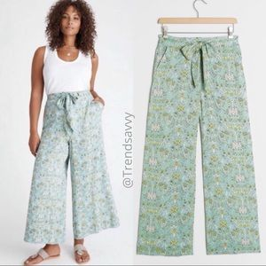 NWT ANTHROPOLOGIE FLORAL ISLAND WIDE LEG PANTS 20W